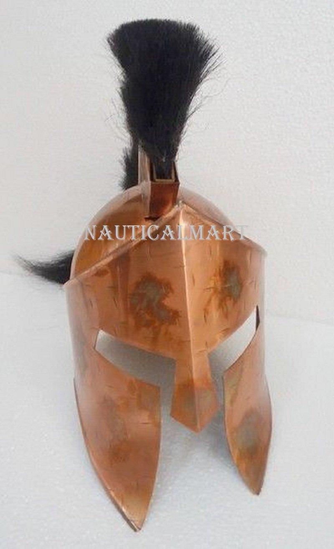 300 King Leonidas Spartan Helmet Warrior Costume Medieval Helmet SCA Gift