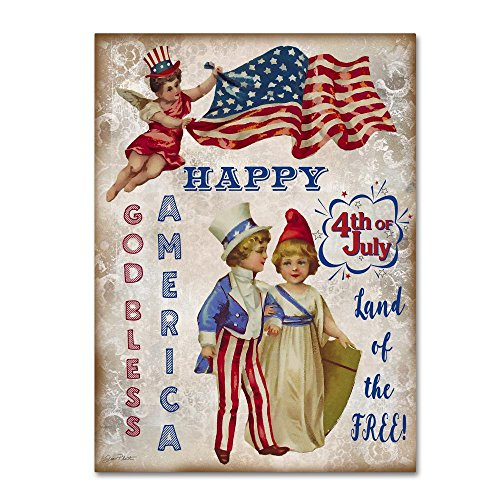 Retro Patriotic 3 by Jean Plout, 24x32-Inch Canvas Wall Art