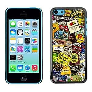 PC/Aluminum Funda Carcasa protectora para Apple Iphone 5C Product Design Tags Colorful Modern Art / JUSTGO PHONE PROTECTOR