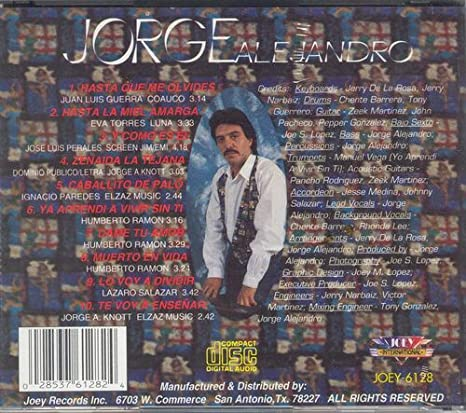 Jorge Alejandro Razones Amazon Com Music