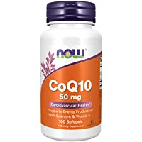 NOW Supplements, CoQ10 50 mg, Pharmaceutical Grade, All-Trans Form produced by Fermentation, 100 Softgels