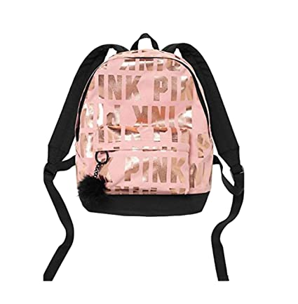 Amazon.com  VICTORIA SECRET - PINK - SIGNATURE MINI Backpack WITH FUZZY  KEYCHAIN - SOLD OUT - LIMITED EDITION CLEAR JELLY TOTE WITH VS DOG   PUP   Everything ... 5916576484
