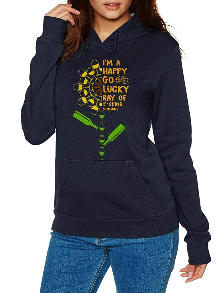 SMLBOO Im A Happy Go Lucky Ray of Fucking Sunshine Funny Vintage Trending Awesome Unisex Shirt Hoodie