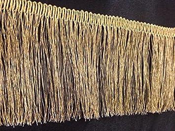 Gold Lurex Metallic Fringe Dress Edging 2.5 inch craft 1Yard fashion