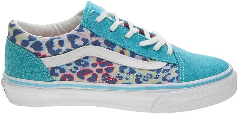 Vans Old Skool J, Baskets pour Fille Bleu Bleu - Bleu - Bleu ...
