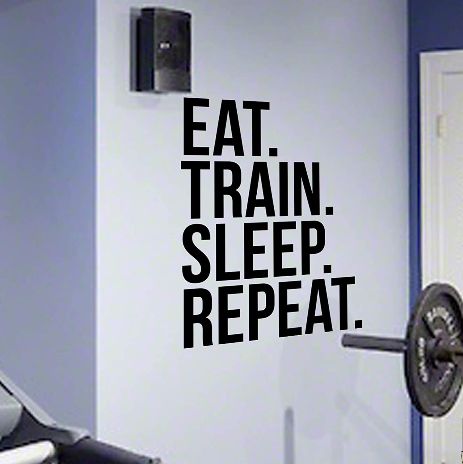 EAT TRAIN SLEEP REPEAT Gym Wall Decal Motivational Quote-Health ...