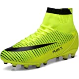 Aleader Men's Football Training Shoes Outdoor Soccer Boots Yellow 9 UK