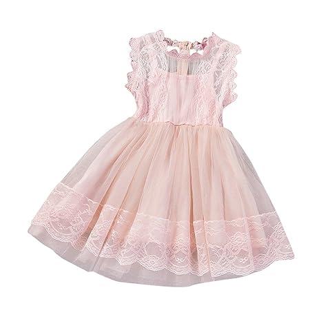 feiXIANG Vestido de niña Brote Vestido de Gasa de Seda Vestido de Falda del Banquete de
