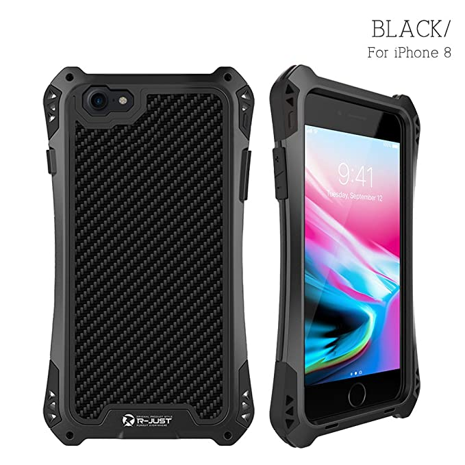 R-JUST Case for iPhone 8 Extreme Aluminum Premium  Shockproof Dustproof Water- 41058b9b889c