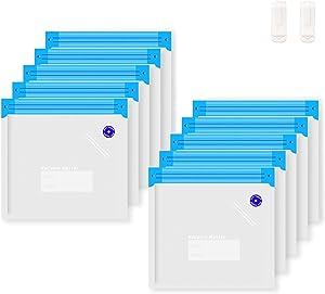 MXBOLD Sous Vide Bags, 10 PCS Reusable Vacuum Food Storage Bags for Food Saver, Commercial Grade/BPA Free Reusable Vacuum Sealer Bags with 2 Sealing Clips for Sous Vide Cooking and Food Storage