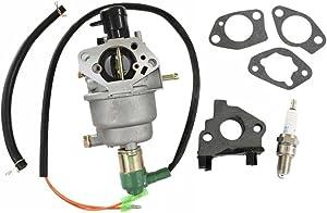 HURI Carburetor with Spark Plug for Honeywell HW5500 Generator 337cc 100924A HW6200 Generator 389cc 100925A