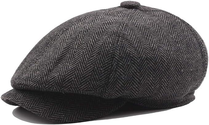YCMI Lrish Peaky Blinders Hat Tweed Herringbone Cotton Newsboy Painter Hat