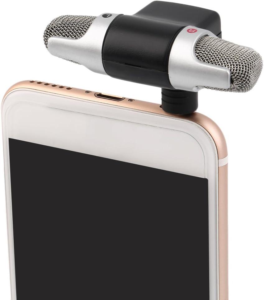 FairytaleMM High Performance 3.5mm Klinke Tragbares Mini Mic Digital Stereo Mikrofon f/ür Recorder Handy Sing Song Karaoke schwarz
