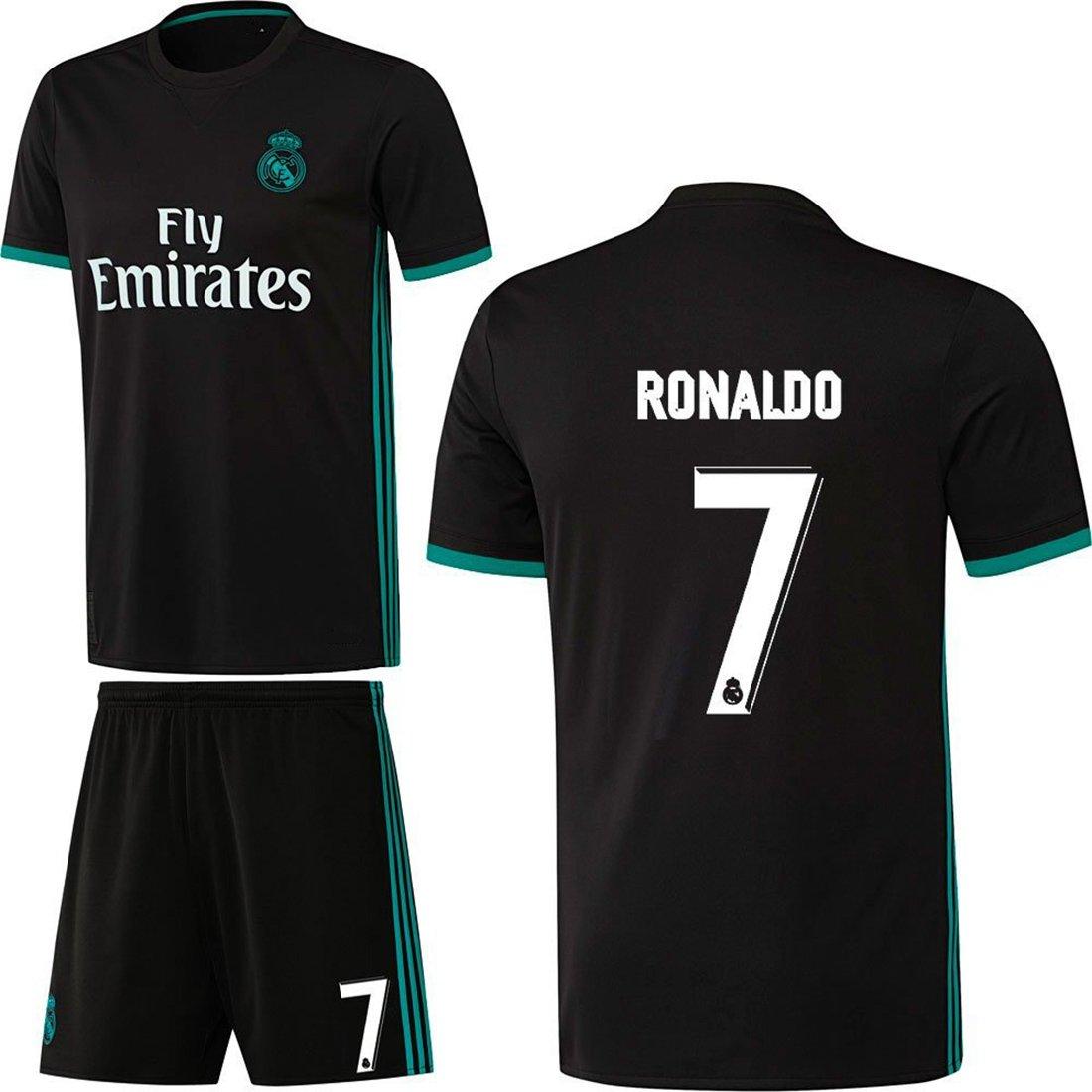 Fútbol Real Madrid CF Away Set 2017 2018 con jugador Nombre Negro ...
