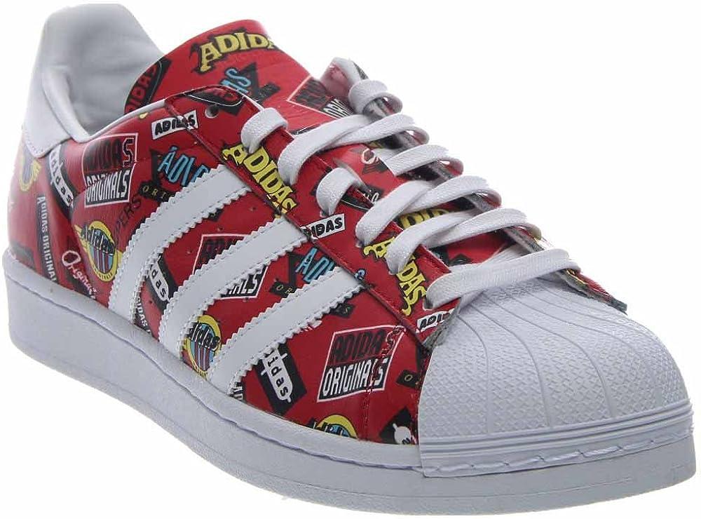 Amazon.com | adidas Superstar NIGO AOP Red | Shoes
