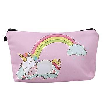 HENGSONG Women Girls Unicorn Bag Makeup Pouch Cosmetics Bag Pencil Case  with Zipper Gifts