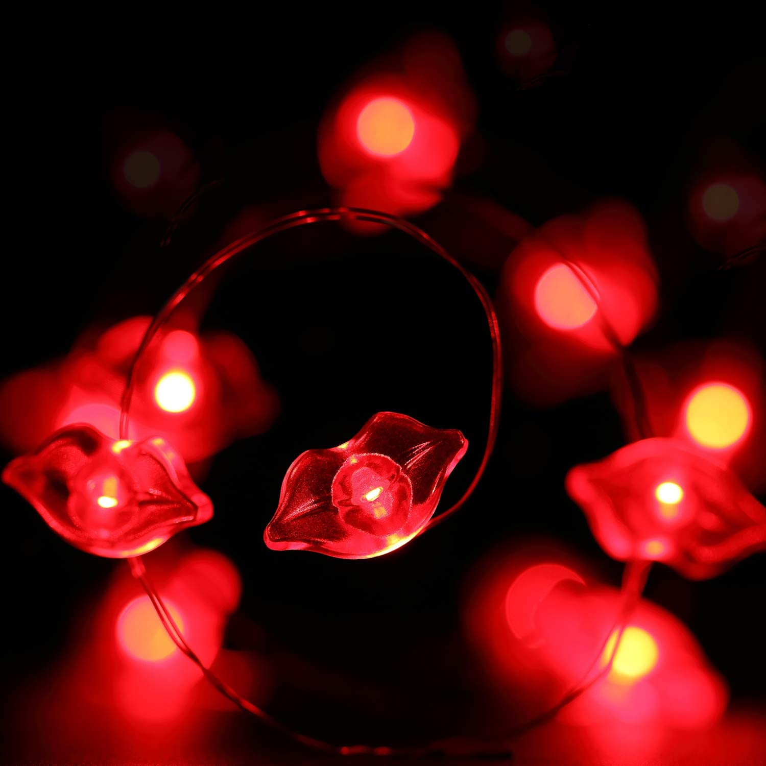 Lips String Lights