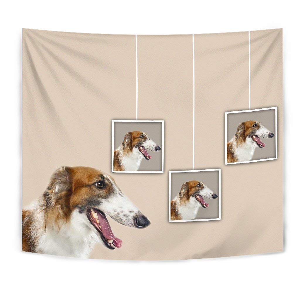 Borzoi Dog Print Tapestry by Simply Cool Trends