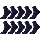 Aosovs靴下 メンズ ビジネスソックス 綿抗菌防臭吸汗通気性5足/10足セット抜群24-28cm