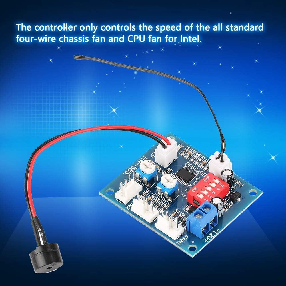 Dekaim Contr/ôleur de Vitesse de Ventilateur PWM DC 12V Thermostat /à Quatre Fils Module de r/égulateur de contr/ôleur de Vitesse de Ventilateur PWM pour PC