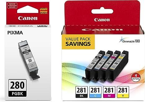 Amazon.com: Canon CLI-281 BKCMY - Cartucho de tinta para ...