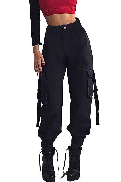 how to choose superior quality 100% original Leggings with Pockets Dance Trousers Womens Combat Capri ...