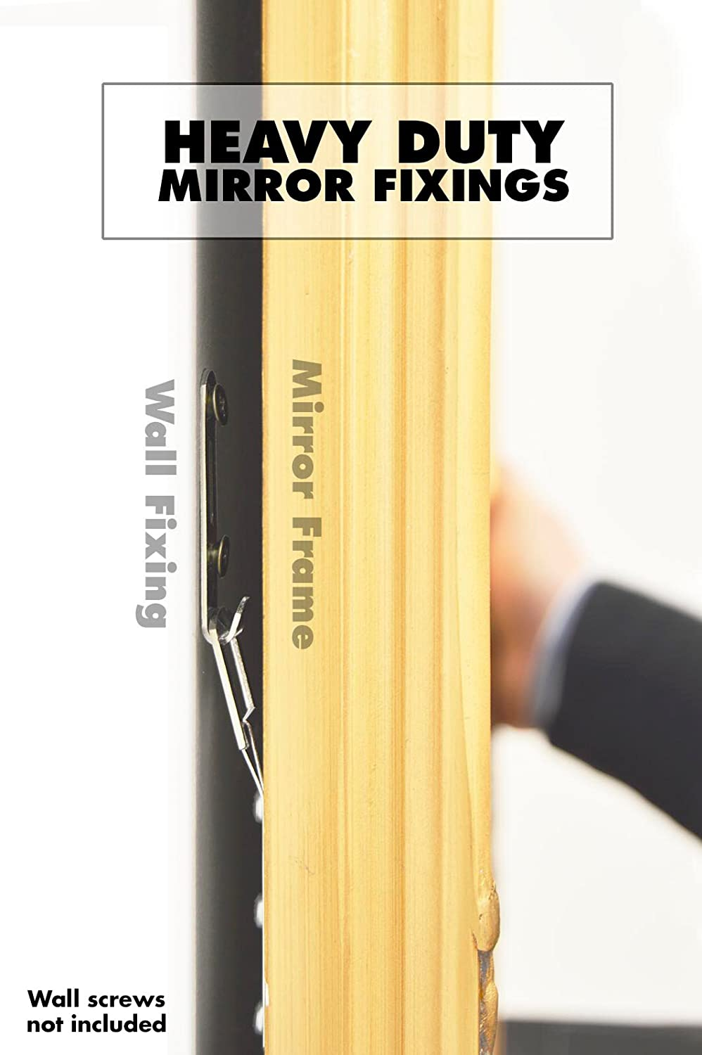 Heavy duty mirror fixings hooks straps fittings for a heavy duty mirror fixings hooks straps fittings for a plasterboard wall by mirroroutlet amazon kitchen home amipublicfo Choice Image