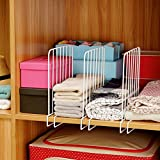 Sweetdecor 6 Pack Shelf Dividers Wire Clothing Organizer Housekeeping Accessories for Clothing Storage Closet Cabinets