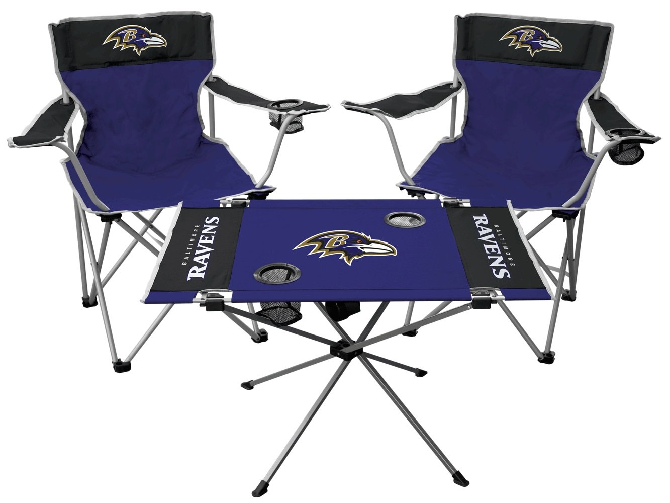 NFL Baltimore Ravens Tailgate Kit, Team Color, One Size