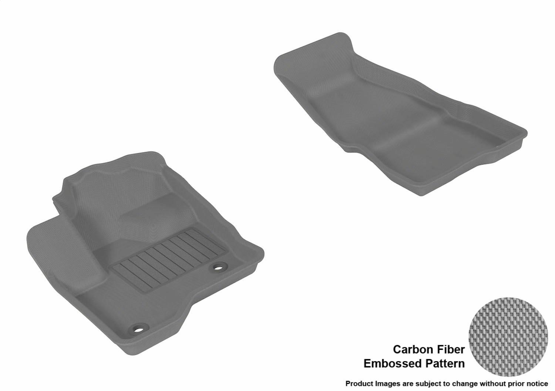 L1FR02121502 3D MAXpider Second Row Custom Fit All-Weather Floor Mat for Select Ford Flex Models Tan Kagu Rubber