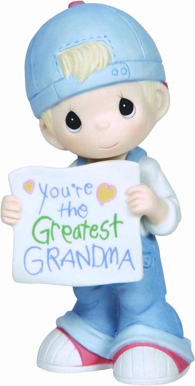 Precious Moments,You're The Greatest Grandma, Bisque Porcelain Figurine, Boy, 133034