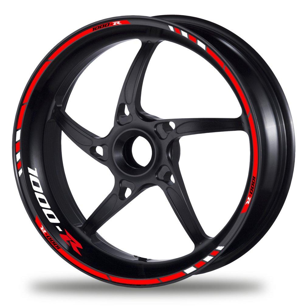 Motiv 3V FELGENRANDAUFKLEBER passend f/ür Honda CB 1000 R Moto GP Style Felgenaufkleber