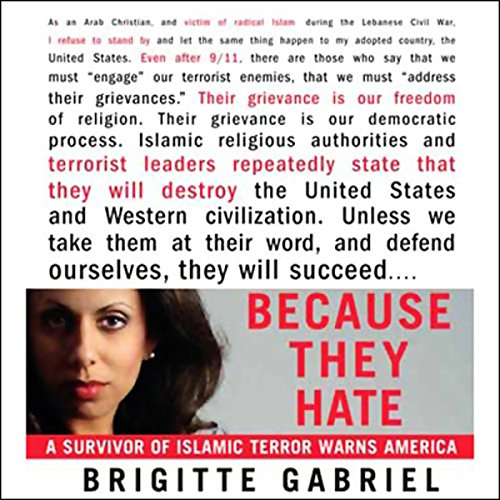 Because They Hate: A Survivor of Islamic Terror Warns America Audiobook [Free Download by Trial] thumbnail