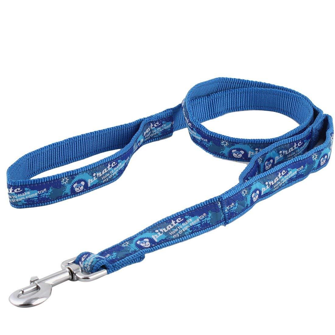 1Pc bluee   Denim Dog Pet Puppy Swivel Hook Walking Lead Training Rope Leash Strap