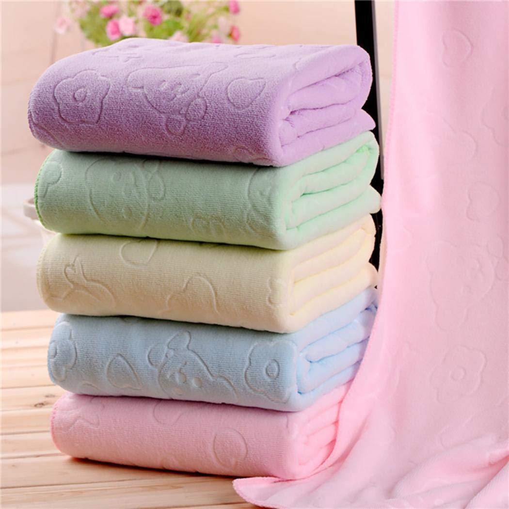 Amazon.com: Hello22 Soft Superfine Fiber Bath Towel Quick-Drying Strong Absorbent Towel Bath Sheets: Home & Kitchen