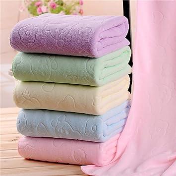 Voiks Toallas Baño, Toallas de Baño, 6 Colores Toallas Baño, Toalla Microfibra Ultra Absorbente para Agua de Secado: Amazon.es: Hogar