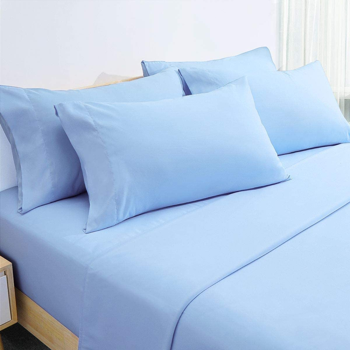 Deep Pocket Twin XL,Aqua Blue 3 Piece Wrinkle /& Fade Free Hypoallergenic HOMEIDEAS Bed Sheets Set Extra Soft Brushed Microfiber 1800 Bedding Sheets