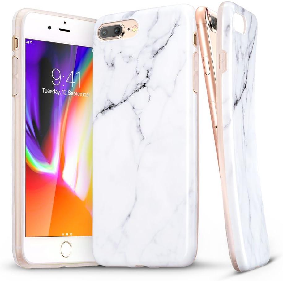 ESR iPhone 8 Plus Case, iPhone 8 Plus Marble Case, Slim Soft Flexible TPU Marble Pattern Cover for The iPhone 8 Plus/7 Plus(White Sierra)