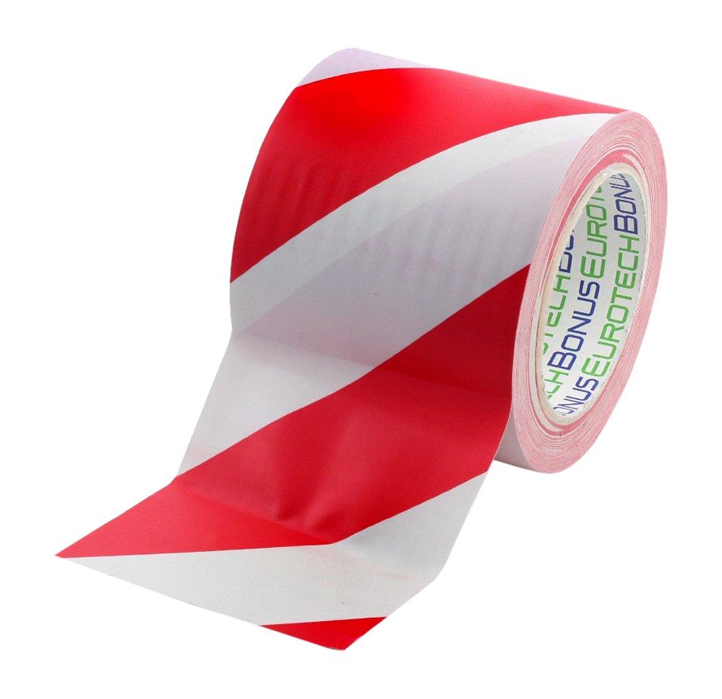 /épaisseur 0,17 mm BONUS Eurotech 1BL23.45.0100//033A# Ruban de marquage au sol PVC Rouge longueur 33 m adh/ésif /à base de caoutchouc largeur 100 mm