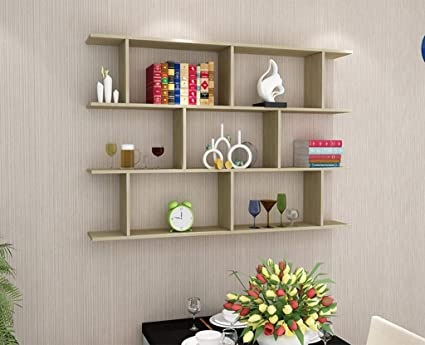 Wall Shelf Wall Shelf Wall Hanging Cabinet Bookcase Wall Decoration Wall  Wall Partition Bedroom Lattice Storage