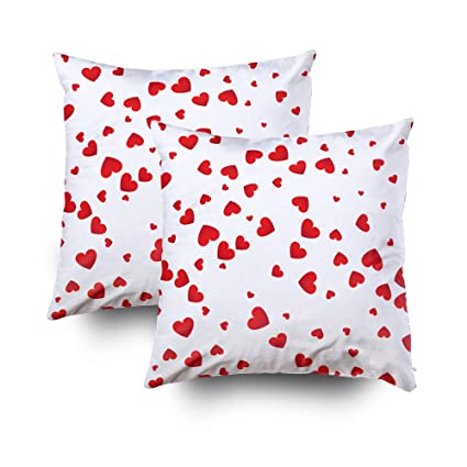 Awesome Grootey Anchor Pillow Cases Square Pillow Covers With Zip Couch Sofa Decor Love Background Red Heart Shapes Texture Pattern Valentine Day Concept Inzonedesignstudio Interior Chair Design Inzonedesignstudiocom
