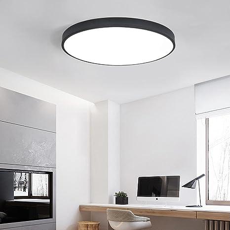 Luz de techo de 18W LED moderno, blanco y negro iluminación ...