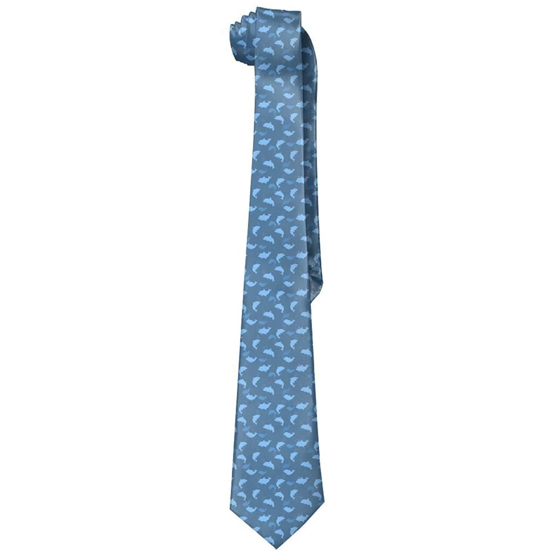 Men's Fashion Neckties Tie Funny Duck Pattern Casual Necktie Sailing Coconut Tree