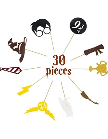 30 Pack Harry Potter Inspired Cupcake Toppers Harry Potter Wizard Fiesta de cumpleaños Decoraciones Suministros