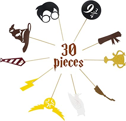 30 Pack Harry Potter Inspired Cupcake Toppers Harry Potter Wizard ...