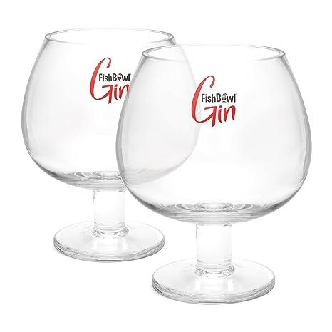FishBowl Pecera Crystal Gin vaso, claro, juego de 2