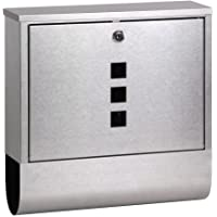 Mailbox Stainless Steel Silver Wall Mount Post Newspaper Letter Mail
