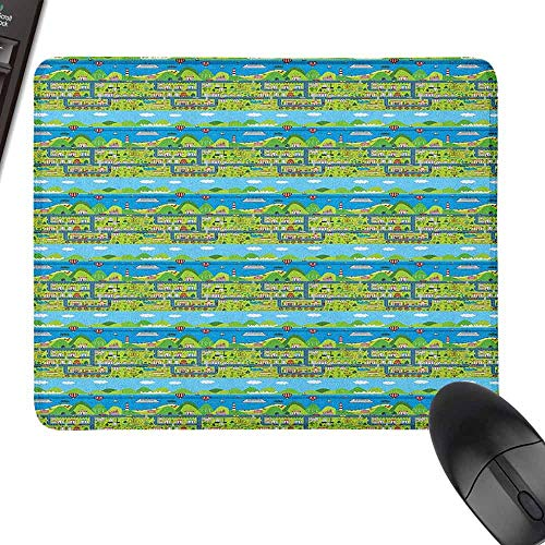 Extra Large Mouse Pad,Kids Car Race Track Roadway Activity,Laptop Desk Mat, Waterproof Desk Writing Pad,11.8