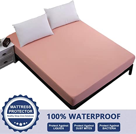 Waterproof Mattress Protector King Size Fitted 18 Inches Deep Pocket Breathable