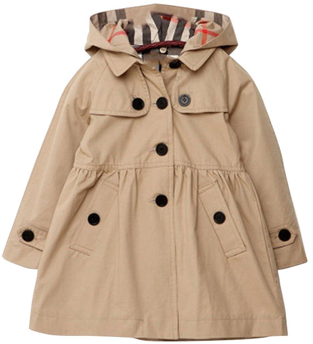 Lemonkids/® Children Girls Fall Spring Hooded Poncho Outwear Jacket Trenchcoat